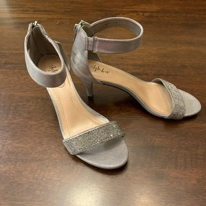 Style &Co Silver Beaded Shimmer Party Heels